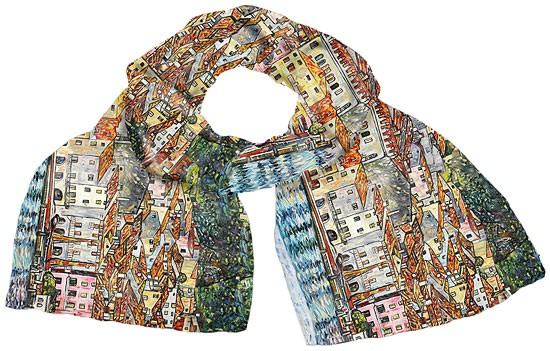 "Gustav Klimt: Seidenschal ""Malcesine"""