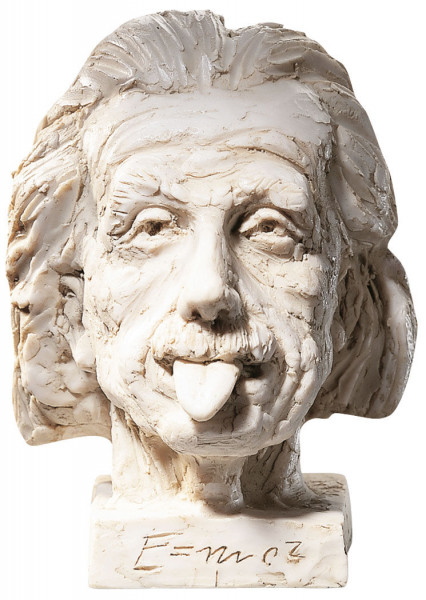"J. Nemecek: ""Einstein-Kopf"" -große Version (32cm), Kunstguss"